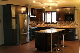Kitchen Design Oak Cabinets Light Oak Cabinets With Dark Wood Floors For Kitchen Design Home