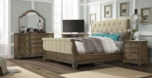 Fairmont Design Bedroom Set Touraine French Glazed Pecan Queen Sleigh Bed From Fairmont