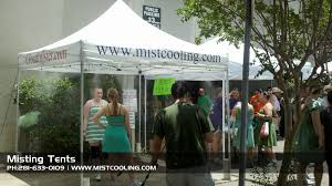 Patio Fans With Misters by Exploring Different Types Of Misting Tents Mist Cooling Blog