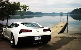 white c7 corvette 2014 chevrolet corvette stingray convertible white front side