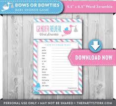 baby shower games stork baby shower game word scramble