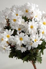 artificial flowers silk white daisies bouquet 72 flowers