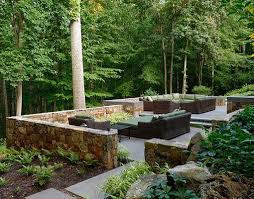 McLean Virginia Landscape Patio Design Retaining Walls  Walkways - Patio wall design