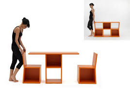 unusual shelving unusual shelving system turns into a table trick bookcase
