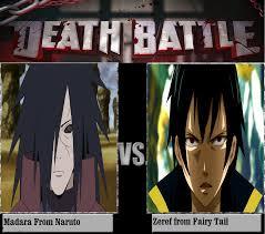 vs madara zeref vs uchiha madara battles comic vine