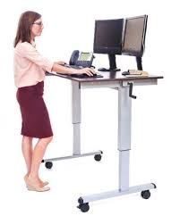 luxor crank adjustable standing desk the perfect sit stand desk
