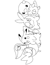 pokemon diamond pearl coloring pages throughout black and white