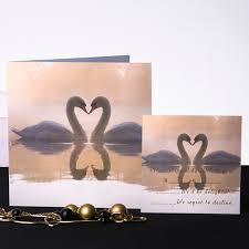 swan wedding swan on the lake square folded wedding invite ukf124 ukf124