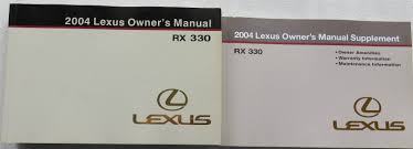 2004 lexus rx330 owner u0027s manual w supplement factory book