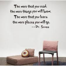 and learn dr seuss wall quote stickers read and learn dr seuss wall quote stickers
