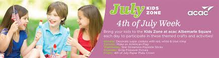 4th of july week in the kids zone acac fitness