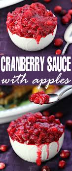 cranberry sauce with apples frugal eh