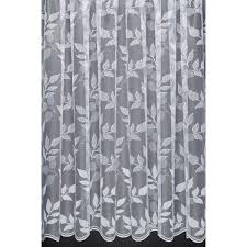 Leaf Design Curtains Leaves U2013 Leaf Design Net Curtain With Scalloped Base Sold By The