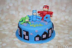 pj masks birthday cake pjmasks birthday cake sugar u0026 spice bakery