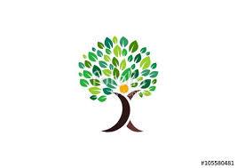 tree symbol people tree logo wellness tree nature health symbol icons