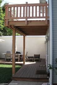2 story deck designs craftsman second story wood deck u0026 porch