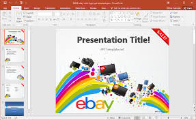 Ebay Microsoft Office by Free Ebay Powerpoint Template