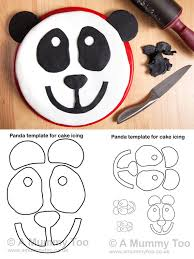 panda cake template how to make a panda cake with printable template a mummy