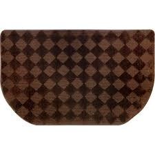 home dynamix kitchen plush step slice checkboard brown 19 7 in x