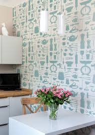 kitchen style turqoise white modern style kitchen wallpaper ideas