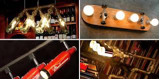 Sports Light Fixtures Lighting Fixtures Made From Bottles Skateboards Baseball Bats