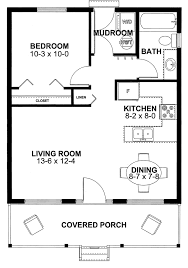 One Floor Small House Plans House Plan 99971 Cottage Vacation Plan With 598 Sq Ft 1