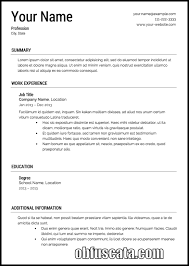 employment resume template resume templates