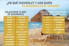 imagenes que empiecen con la letra am chevrolet uruguay on twitter si eligieras el mes de tu nacimiento