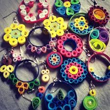 quiling earrings quilling earrings simple and pretty 5 steps with pictures