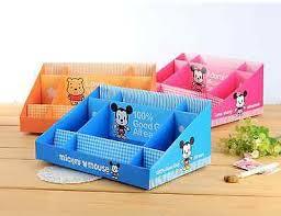 Desk Organizer Box Lot 3 Mickey Large Paper Stationery Diy Storage Cosmetic Box Desk