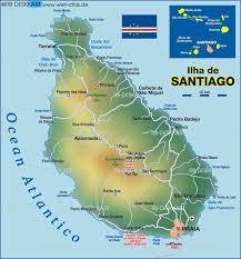 cape verde map world map of santiago cape verde capeverde teamfunana