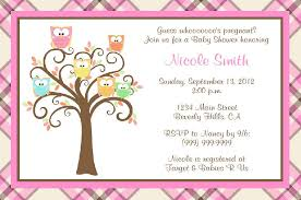 baby shower owls owl baby shower invitations template best template collection