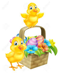 cartoon easter baby chicken birds chocolate painted easter