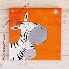 tableaux chambre bébé tableau enfant chambre bébé savane jungle zebre et sa maman