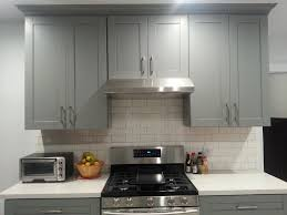 kitchen endearing grey shaker kitchen cabinets backless wood and