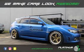 blue subaru gold rims subaru wrx sti platinum wheels