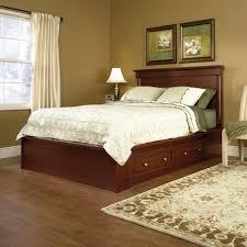 bedroom queen bed with storage drawers underneath queen platform