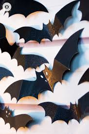 halloween bats crafts swarm of paper bats wall decoration country hill cottage