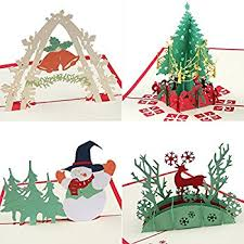 pop up christmas cards coohom pop up christmas card with envelope set of 4