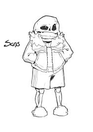 sans the skeleton sketch by ma skipper on deviantart