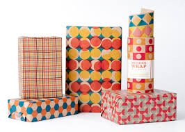 wrapping paper mid century modern wrapping paper 12 sheets