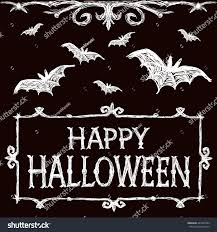 halloween vector illustration bats fly creepy stock vector