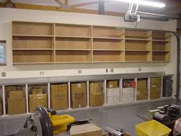Wood Shelving Plans Garage by Furniture Custom Diy Wood Wall Mounted Garage Cabinet Above Box