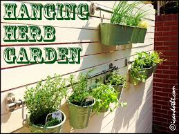 picturesque hanging herb garden burlap herbgardenfront diy
