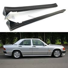 mercedes benz w201 190 amg style side skirts aprons trims addon