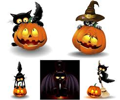 halloween cat with pumpkin vector vector graphics blog