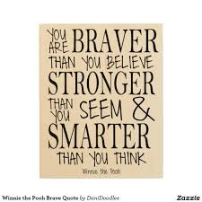 winnie the pooh brave quote wood print home decor pinterest