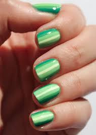 fundamentally flawless essie week green ombre stripes nail art