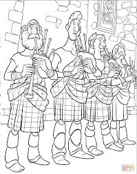 bagpipe players coloring page free printable coloring pages