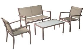 Patio Table And Chairs Set Amazon Com Traxion 4 211 Outdoor Patio Furniture Set Beige